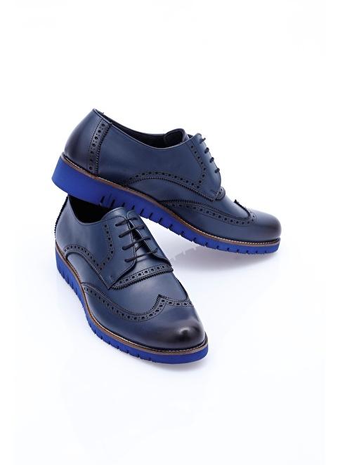 Wessi %100 Deri Oxford Ayakkabı Lacivert